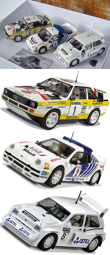 Scalextric C3372A Stig Blomqvist Rally Legend 3-car set