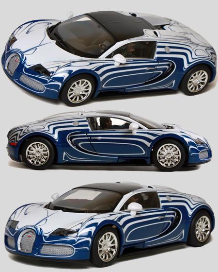 Scalextric C3394 Bugatti Veyron road car, blue/white