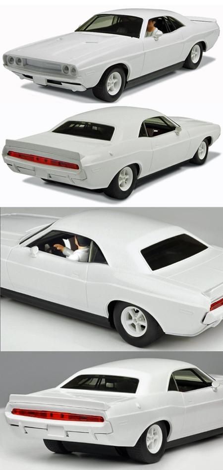 Scalextric C3444 Dodge Challenger, all white