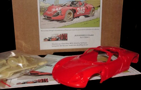 Proto Slot CB066/1P Alfa Romeo33 Stradale, red, KIT