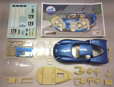 Proto Slot CB077P Alpine A220 rally car, painted body kit