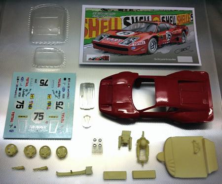 Proto Slot CB079P Ferrari 365GTB4 NART, LeMans 1977, painted body kit