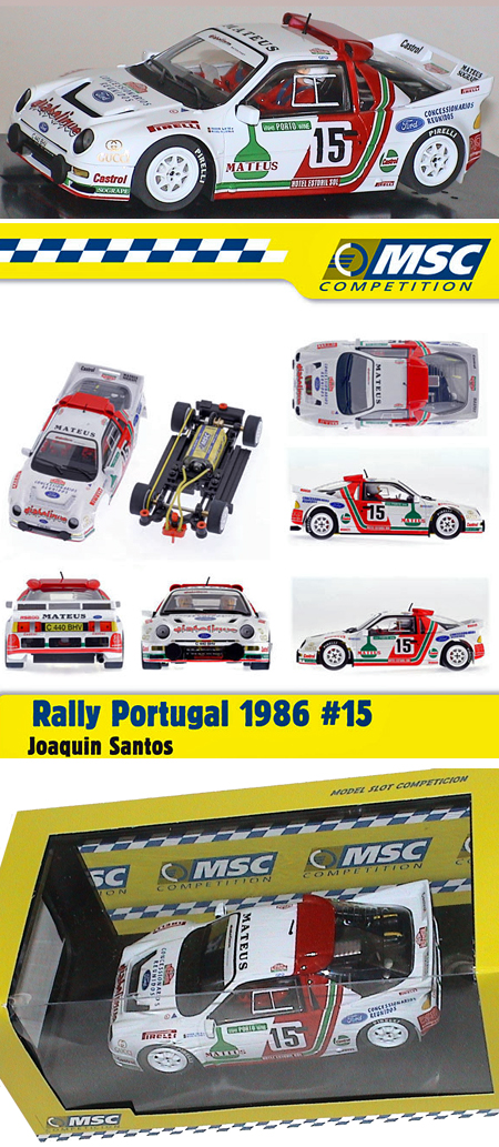 MSC 6018 Ford RS200 1986 Rally Portugal winner