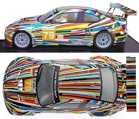 """Scale Auto SC7017 BMW M3 GTR GT2 """"art car"""",LeMans 2010. 1/24 scale kit"""