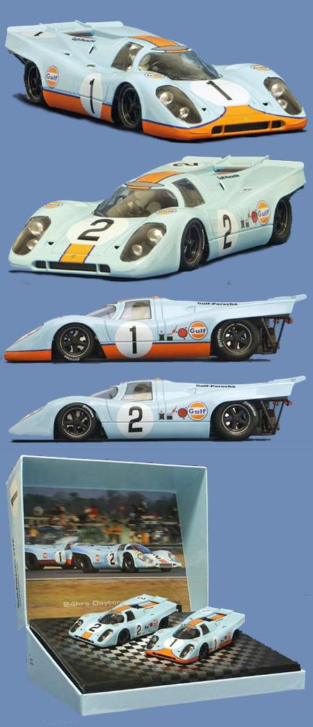NSR SET06 Porsche 917K 2-car set, Gulf, Daytona 1971