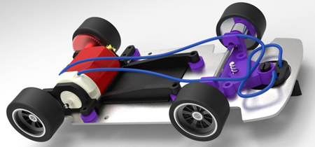 BSR SW001RTR Complete running sidewinder chassis
