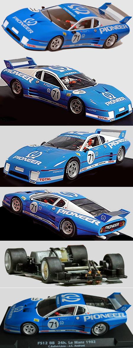 Fly W50102 Ferrari 512BB, #71, Pioneer