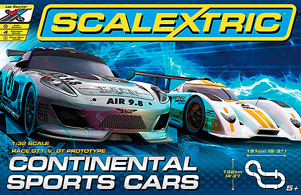 Scalextric C1319T GT40 Continental Sports Cars Set