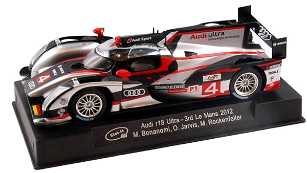 Slot It SICA38A Audi R18, n.4 3rd Le Mans 2012