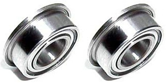PMTR1179 Ball Bearings 3mm Axle 6mm OD Single Flange Stainless Steel Double Side Sealed