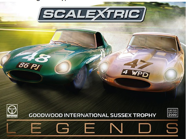 Scalextric C3898A Legends Jaguar E-type 1963 International Trophy TwinPack Limited Edition
