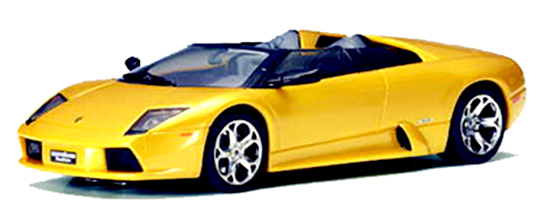 Autoart 13142 Lamborghini Murcielago Roadster, Gold, metallic gold, lighted (C)