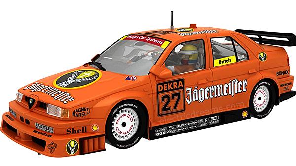Slot It SICA35B Alfa Romeo 155 V6 Ti 1994 Zolder DTM no. 27 'Jagermeister'