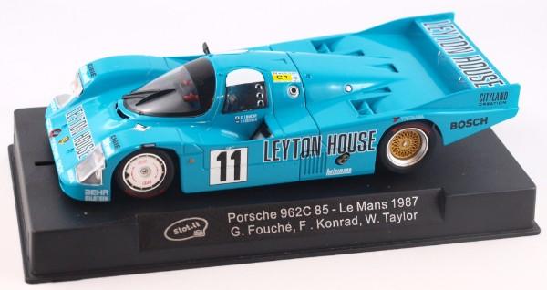 "Slot.it SICA34A Porsche 962C 85 LeMans 1987 Fourth ""Leyton House"""