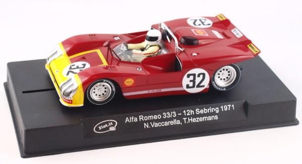 Slot.it SICA11H Alfa Romeo 33/3 n.32 12h Sebring 1971