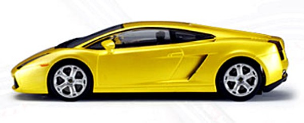 Autoart 13161 Lamborghini Gallardo, metallic yellow, lighted