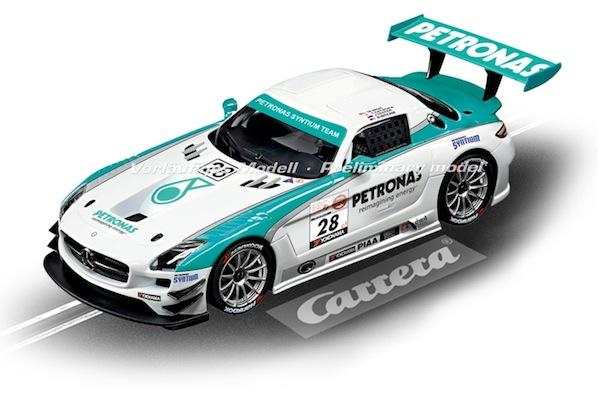 """Carrera 23837 Mercedes-Benz SLS AMG GT3 """"Petronas, No.28"""" D124"""