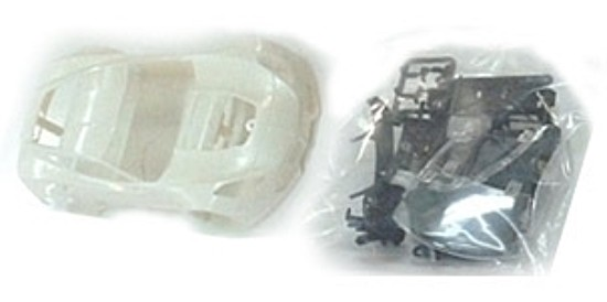 NSR1498 Corvette C7R White Body Kit