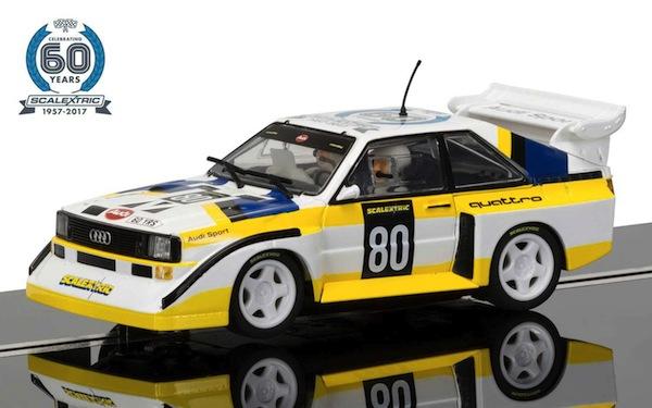Scalextric C3828A 60th Anniversary no. 3-1980s, Audi Sport quattro S1 E2 Limited Ed.