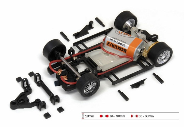 SICH312C HRS/2, Chassis, RTR, Anglewinder 1.0mm Offset