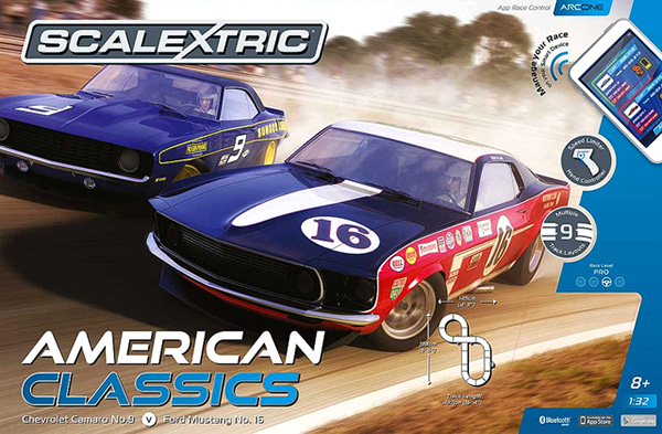 Scalextric C1362T American Classics Set ( Trans-Am Camaro & Mustang (ARC ONE App)