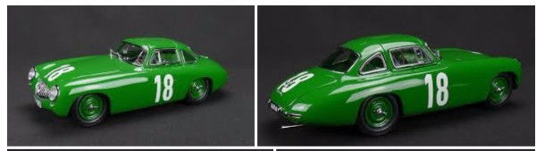 MMK78G Mercedes-Benz 300SL No. 18, German GP Race 1952, Green—PRE-ORDER NOW!