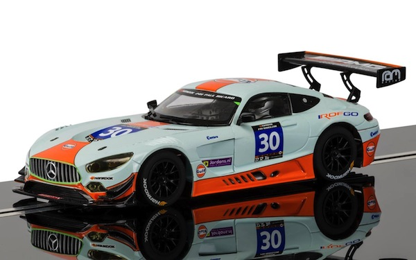 Scalextric C3853 Mercedes AMG GT3 Gulf, Winner 2015 Paul Ricard 24 Hour—PRE-ORDER NOW!