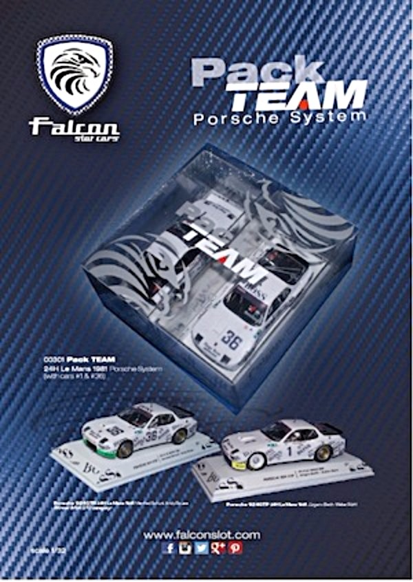 Falcon Slot 00301 Two Pack Porsche 924s