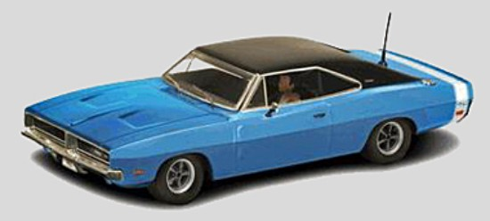 Scalextric C3535 Dodge Charger, Blue Road Car