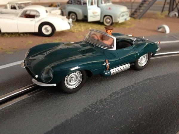 MMK78/1 Jaguar XKSS Green, driver Steve McQueen