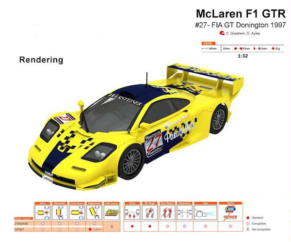 Slot It SICA10L McLaren F1GTR – #27 – FIA GT Donington 1997
