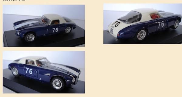 MMK80 Lancia D20 1953 Targa Florio winner, driver Umberto Maglioli