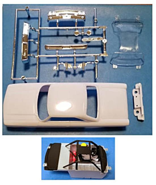Monogram PMTR8507 '63 Galaxie Stock Car White Body Kit w/Interior