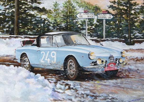 """Slot Classic CJ49 Alfa Romeo Guilietta """"Rallye Monte-Carlo '61"""""""